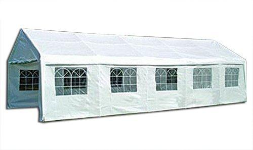 KMH®, Riesiges weißes 10 X 5 Meter Festzelt mit extra dickem Stahlgestänge (#303024)