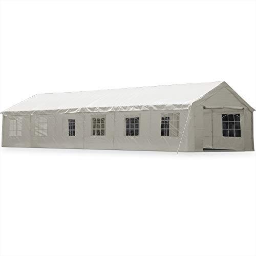 Zelt Partyzelt 6x12m Pavillon Festzelt Carport Bierzelt Gartenzelt Familienzelt Carport 12 Rundbogenfenster 72m² Modellauswahl