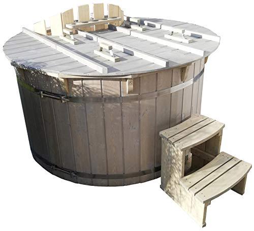 Gartensauna Hot Tub Badezuber Whirlpool Pool 180cm NEU Badefass Edelstahl Ofen auf Lager
