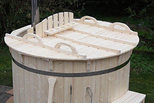 Gartensauna Hot Tub Badezuber Whirlpool Pool 180cm NEU Badefass Edelstahl Ofen auf Lager - 3
