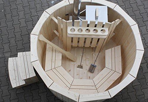 Gartensauna Hot Tub Badezuber Whirlpool Pool 180cm NEU Badefass Edelstahl Ofen auf Lager - 5