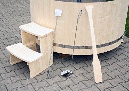 Gartensauna Hot Tub Badezuber Whirlpool Pool 180cm NEU Badefass Edelstahl Ofen auf Lager - 9