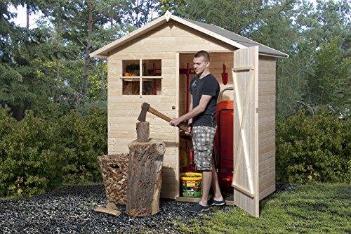 Weka Gartenhaus, 345 Größe 1, 14 mm, ET ohne Boden, braun, 205x129x217 cm, 345.1810.30.04