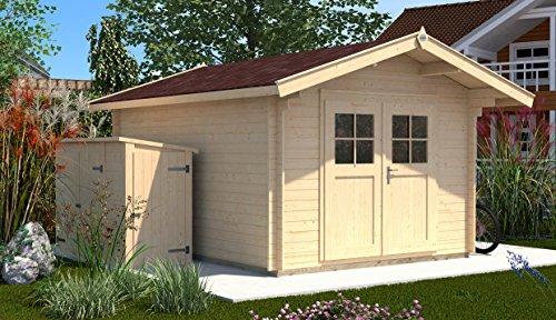 Weka Gartenhaus, Sparset Premium28 DT, V60, DS rot/braun, 300x320x251 cm, 132.2525.40109