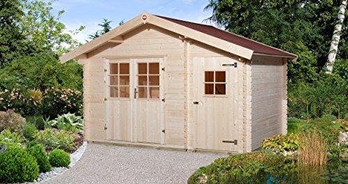 Weka Gartenhaus, 253 Größe 1, 28 mm, DT, Nebenraum ET, V50 mit 2 Raum, braun, 420x260x270 cm, 253.3720.10.00