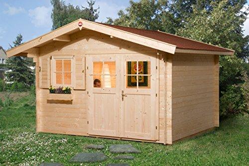 Weka Gartenhaus, 109 Größe 2, 28 mm, DT, EF, braun, 420x370x262 cm, 109.3430.10.00