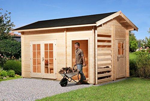 weka Gartenhaus 150, 28 mm, DT, mit Holzlager und Geräteraum