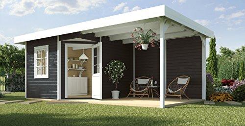 weka Designhaus 213 B Gr.2, 5-Eck, anthrazit, 28 mm, ET, F, Anbau 300 cm