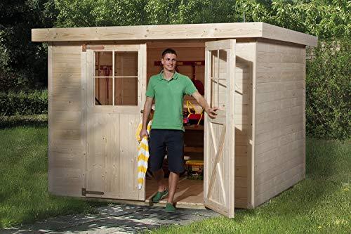 Weka Gartenhaus Domus Größe 3 natur