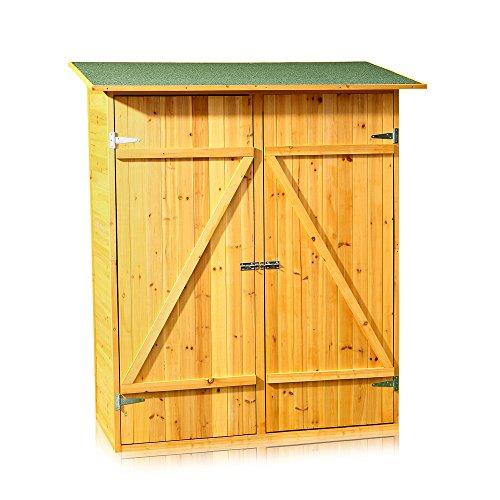 Melko Gerätehaus XXL Geräteschuppen Gartenschrank, aus Holz, 162 x 140 x 75 cm, Geräteschrank Gartenhaus