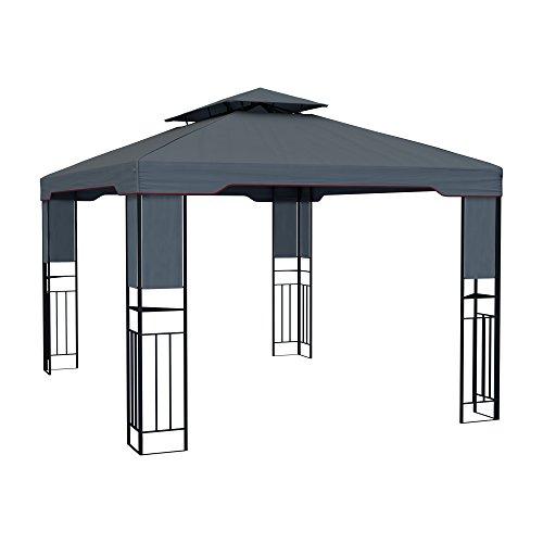 paramondo Deluxe Gartenpavillon wasserdicht, 4 x 3m, anthrazit