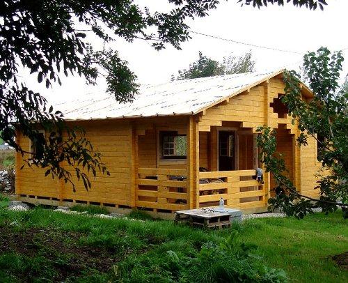 Gartenhaus VARBERG Blockhaus mit Raumaufteilung Ferienhaus 521 x 780 cm - 45 mm