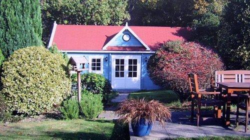 Gartenhaus Moormerland Blockhaus 425cm x 365cm - 45mm Gartenlaube Holzhaus Holzlaube